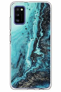 yiyiter A31 Étui pour Samsung Galaxy A31 Coque Soft Silicone Housse TPU Bumper Protecteur Antichoc Cover Marble Design pour Samsung A31 Back Case Protection