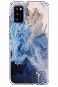 yiyiter A41 Étui pour Samsung Galaxy A41 Coque Soft Silicone Housse TPU Bumper Protecteur Antichoc Cover Marble Design pour Samsung A41 Back Case Protection