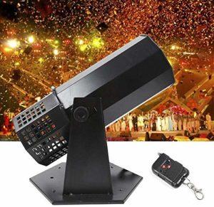 ZOUJUN DJ Confetti Machine de Lancement, for soirée de Mariage Concerts Célébration des événements Speciial étape Effet Confetti Shooter Tir 1500W