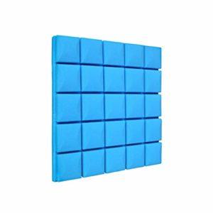 10 PCS Carrés Panneaux Acoustiques, Salle De Tambour Studio Enregistrement Studio Mur Intérieur Hôtel Bar Maison Décoration insonorisant Coton (Couleur : Bleu)