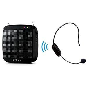 2.4G amplificateur de voix,18W Mini portable ampli pour micro, Batteries Rechargeable Ultraléger amplificateur de son pour portable micro sans fil,les enseignants, conférenciers, animateurs/Noir