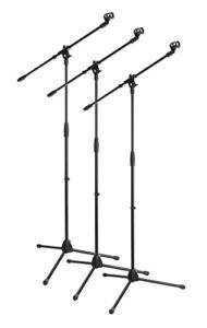 3x Lot McGrey MBS-01 Stand de Microphone avec Perche et Pince à Micro