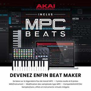 AKAI Professional APC Key 25 – Contrôleur MIDI,USB pour Ableton LIVE avec 25 Touches Sensibles, VIP 3 et Pack de Logiciels Inclus, Noir