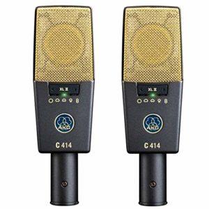 AKG C414-XLII Set stéréo de 2 microphones à condensateur pour studio large