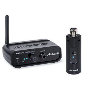 Alesis MicLink Wireless Adaptateur XLR Microphone Numérique Sans Fil + Récepteur avec 18m de Portée