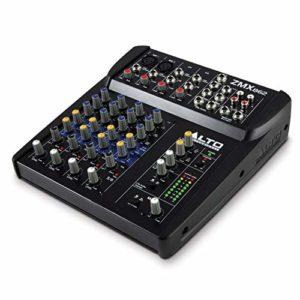ALTO Professional ZMX862 – Table de Mixage Compacte 6 Voies avec Entrée XLR, EQ et Aux In/Out