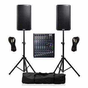 Alto TS312 PA System 4000W Système d'enceintes sonores avec mélangeur, câbles et supports