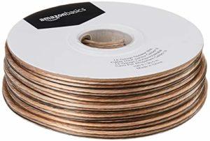 AmazonBasics Câble audio pour haut parleur Calibre 14 Section 2,08 mm² Longueur 30 m