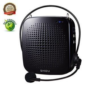 Amplificateur Vocal Portable 15W, Sidhu Amplificateur Vocal Personnel avec Microphone Filaire Casque Amplificateur Rechargeable Microphone Haut-Parleur pour Les Enseignants