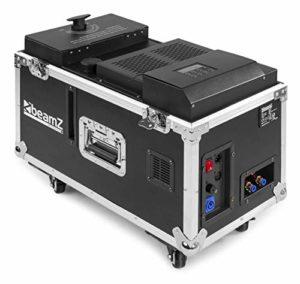 BeamZ LF1500 • Machine à fumée lourde • Technologie ultrason • Diffusion en continu • DMX • Flightcase inclue • Parfait pour DJ, soirées, événements, bars etc.