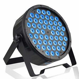 BETOPPER Par led dmx 54×1.5W RGB LED Jeux de lumiere lyre Eclairage dj Jeu de lumiere dj Eclairage de scène (LPC008S)