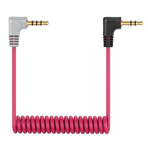 Câble de Microphone TRS vers TRRS, 3,5 mm Mâle à Mâle Angle Droit câble patch pour Rode VideoMic, VideoMicro Go et Autres Microphones Externes Replacement Rode SC7 Câble