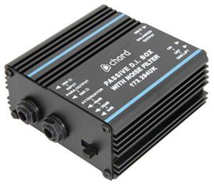 chord DI-F1 Boîte à injection directe passive avec filtre à bruit