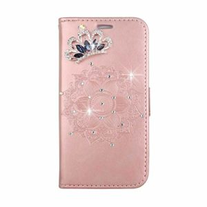 Coque LG K7 / K8, SONWO Premium PU Cuir Portefeuille de Protection Étui avec Fentes de la Carte pour LG K7 / K8, Or Rose