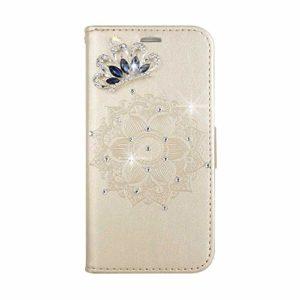 Coque Sony Xperia X, SONWO Premium PU Cuir Portefeuille de Protection Étui avec Fentes de la Carte pour Sony Xperia X, Or