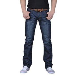 ELECTRI Homme Jeans Skinny Rétro Tout Droit Jeans Vintage Pantalon de Travail Militaire Pants Casual Trousers en Denim