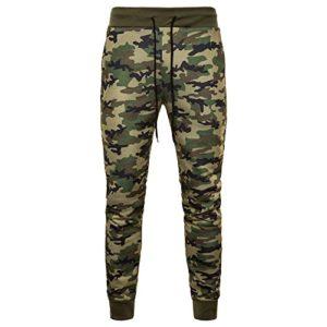 ELECTRI Pantalons de Camouflage pour Homme,Pantalons À la Mode Jogging Coton Pantalons de survêtement de Grande Taille
