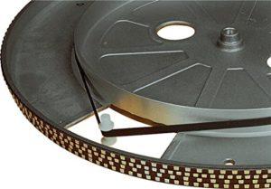Electrovision – Courroie pour Platine Tourne-Disques Noire – Dimensions: 210mm