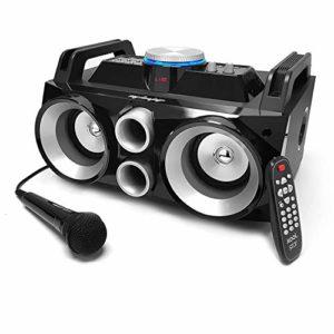 Enceinte karaoke active autonome 2×4″ 300W – USB/SD/BT + Tél + Micro – MyDJ NOMAD300