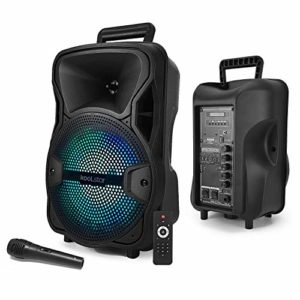 Enceinte KoolStar SPACER08 karaoke autonome batterie 8″ – 200W – USB/BT/SD + Micro + Tel