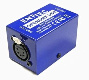 Enttec Open DMX Clé USB vers interface DMX 512 ch