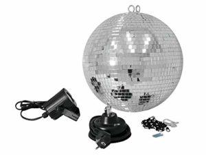 Eurolite 059979 Boule mis 30 cm avec spot LED Miroir