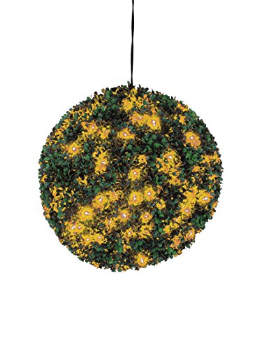 Europalms 82606957 Boxwood Ball avec LED Orange, 40 cm, Multicolore, Taille Unique