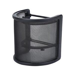 Filtre de Microphone, Forme en U, Masque en métal pour Pare-Brise Mic pour Studio