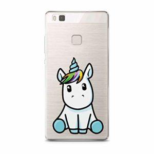 FINOO Coque de Protection Rigide pour Huawei P9 Lite avec Motif | Coque Fine Anti-Chocs de qualité supérieure pour Votre Smartphone | Licorne