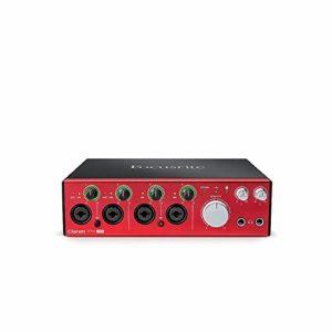 Focusrite – Interface Audio Numérique Clarett Pre USB 10 Clarett 4Pre USB rouge/noir