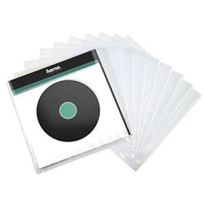 HamaPochettes extérieures pour vinyles (pour 33 tours, 10 pièces, 32,7 x 0,07 x 32,5 cm) Transparent