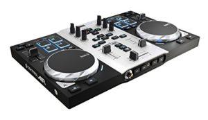 Hercules DJControl Air S Series – Contrôleur DJ USB à deux Platines, avec Carte son, 8 pads et Capteur de Proximité pour Activer la Fonction AIR – pour PC et Mac