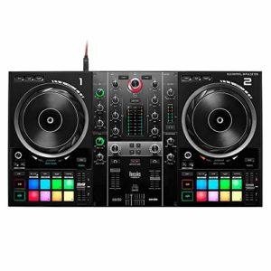 Hercules DJControl Inpulse 500 – Contrôleur DJ USB 2 voies pour Serato DJ Lite et DJUCED (inclus) – Interface audio intégrée, 16 pads rétroéclairés en RGB, larges jogwheels, mixeur hardware intégré