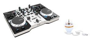 Hercules DJControl Instinct Party Pack, Contrôleur DJ USB avec Carte Son et Sorties Audio pour Utilisation avec Casques et Enceintes + LED Party Light USB