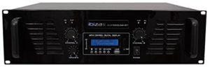 Ibis AMP1000USB-BT Amplificateur de Sonorisation avec Bluetooth USB 2 x 800 W Noir