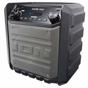 ION Audio Game Day – Enceinte 50 W Portable et Rechargeable avec Bluetooth, Port USB pour Recharger, Entrée AUX et Microphone