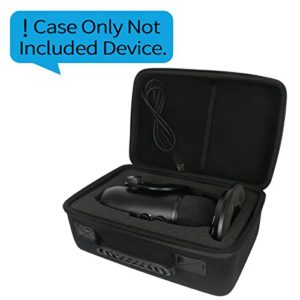 Khanka Étui de transport rigide pour microphones USB Blue Yeti avec filtre anti-vent et webcam Logitech C920 HD Pro s