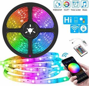 Kit de bande lumineuse LED DC12V 5M 10M 15M Bande LED 5050 RGB 30LEDs / m Lumière flexible couleur changeante avec télécommande IR + adaptateur-RGB_15M