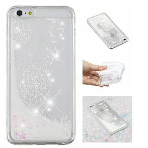 KM-Panda Coque Apple iPhone 7 8 Paillette Brillante Liquide Glitter Silicone TPU Transparent Motif Ultra Fine Slim Bumper Antichoc Etui Housse Case Cover – YYY