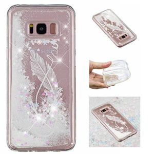 KM-Panda Coque Samsung Galaxy S7 Edge Paillette Brillante LiquideGlitter Silicone TPU Transparent Motif Ultra Fine Slim Bumper Antichoc Etui Housse Case Cover – YYY