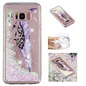 KM-Panda Coque Samsung Galaxy S7 Paillette Brillante LiquideGlitter Silicone TPU Transparent Motif Ultra Fine Slim Bumper Antichoc Etui Housse Case Cover – YYY