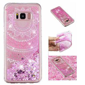 KM-Panda Coque Samsung Galaxy S8 Plus Paillette Brillante LiquideGlitter Silicone TPU Transparent Motif Ultra Fine Slim Bumper Antichoc Etui Housse Case Cover – YYY