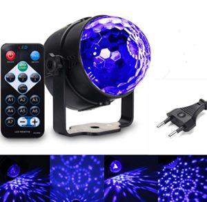 Lumière Noire,SOLMORE Discothèque Boule Disco Lumière Soirée à Télécommande 3W 3 Modes Sound Auto Stroboscope Lumière Violette Spot Projecteur UV à Effet DJ Décor Concert Fête Mariage Bar.