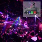 Lyre Led, AONCO DMX512 80W Mini disco lumiere, RGBW 11 canaux, Tête mobile/Vocale Commande/DMX512/ Master Slave, pour Club Bar KTV Disco Show