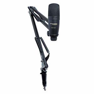 Marantz Professional Pod Pack 1 – Kit de Podcasting Complet avec Microphone à Condensateur USB Professionnel, Stand Ajustable et Câble USB