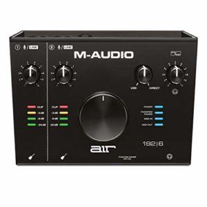 M-Audio AIR 192|6 – Interface Audio/ MIDI USB/ USB-C 2 Entrées/2 Sorties avec Logiciels: Pro-Tools|First, Ableton Live Lite, Eleven Lite et Avid Effects Collection, plus FX & VIs de AIR Music Tech