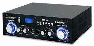 McGrey PA-350BT Bluetooth amplificateur avec lecteur USB/MP3