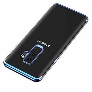 Misstars Coque en Silicone Placage pour Samsung Galaxy A6 2018, Ultra Mince Transparente Souple TPU Gel Housse Étui de Protection Anti-Rayures Exact Fit pour Galaxy A6 2018, Bleu