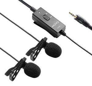 Movo Micro-Cravate TRS à condenseur omnidirectionnel et Pince à Micro LV20 pour appareils Photo, caméscopes, enregistreurs (Connexion TRS 3.5mm)
