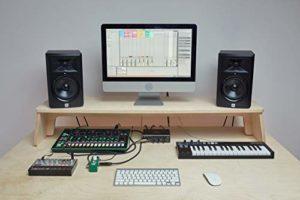 Music Studio Support pour écran 125 x 30 x 15 cm